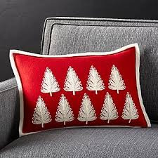 Red Decorative Pillows by Red Throw Pillows Crate And Barrel