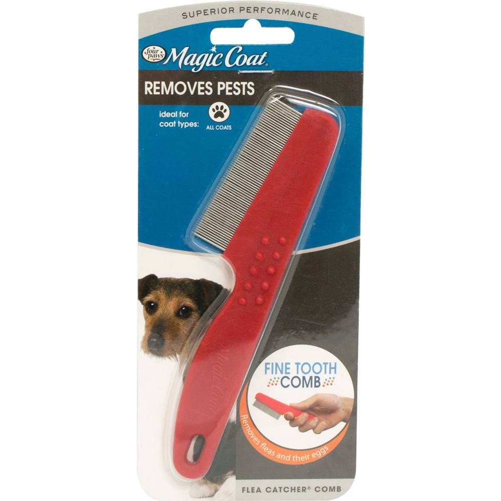 Four Paws Magic Coat Flea Catch Dog Comb