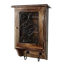 vian craftsman wooden wall hanging decorative key box key rack