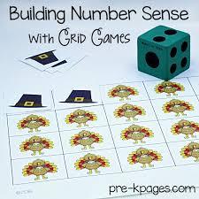 Printable Thanksgiving Grid Game For Preschool