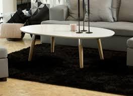 table basse style nordique en bois ronde vénésetti
