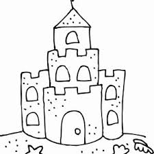 Sand Castle Coloring Page New Sandcastle Drawing At Getdrawings
