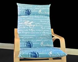Poang Chair Cushion Blue poang chair cover etsy