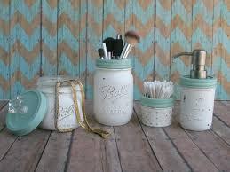 Beach Glass Bath Accessories by Distressed Mason Jar Bathroom Set By Mason Jar Lamps And More On
