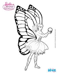 The Power Of Flutter Flower And Heartstone Barbie Printable Color Online Print Mariposa Flying Through Flutterfield