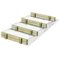 marches d escalier et bordures en 2 demi rondins solution pin