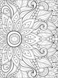 Adult Coloring Pages Flowers 2