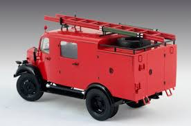 100 Model Fire Truck Kits L1500S LF 8 German Light ICM Holding Plastic Model