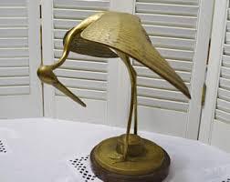 heron figurine etsy