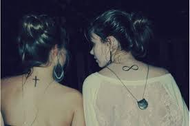 Eternity Symbol Neck Tattoo Designs For Girls