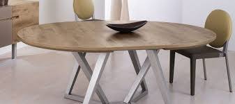 table ronde bois avec rallonge table design moderne et table