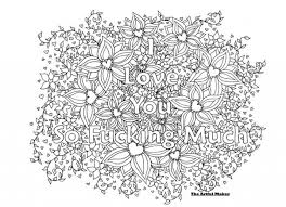 I Love You So Fucking Much Adult Coloring Page Theartfulmaker Intended For