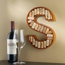 Wine Bottle Cork Holder Wall Decor by Alphabet Letter Wine Cork Kit Wine Enthusiast