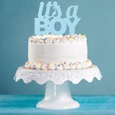 glitzer kuchen oder deko stecker baby it s a boy blau
