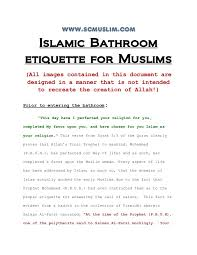 answering the call of nature in islam bathroom etiquette www scmusl