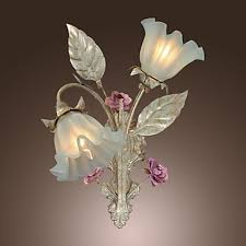 country style floral shape led wall ls wall sconce lights with