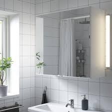 enhet spiegelschrank 2 türen weiß 80x30x75 cm
