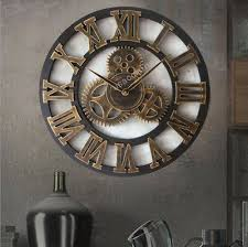 retro φ45cm wanduhr 3d römische wand uhr groß xl wohnzimmer