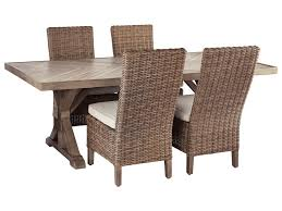 Beachcroft 5 Piece Outdoor Dining Set By Signature Design By Ashley At  Furniture And ApplianceMart