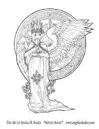 Advent Angel Line Art By AngelaSasserdeviantart On DeviantArt Download A Free Fairy ColoringFree