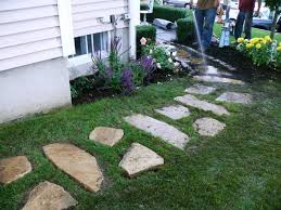 Building A Stone Walkway | How-tos | DIY Low Maintenance Simple Backyard Landscaping House Design With Patio Ideas Stone Home Outdoor Decoration Landscape Ranch Stepping Full Image For Terrific Sets 25 Trending Landscaping Ideas On Pinterest Decorative Cement Steps Groundcover Potted Plants Rocks Bricks Garden The Concept Of Designs Partial And Apopriate Fire Pit Exterior Download