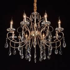 kronleuchter für wohnzimmer in gold kristalle bemere