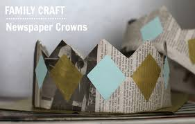 Craft With Newspaper For Kids