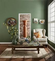 klassisches wohnzimmer mit grüner wand buy image