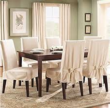 Sure Fit Cotton Dining Chair Seat Covers