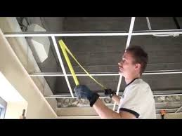Suspended Ceiling How To by How To Install A Suspended Ceiling Grid Installation Basic
