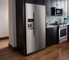 48 Cabinet Depth Refrigerator by 22 7 Cu Ft Counter Depth Side By Side Refrigerator With Exterior