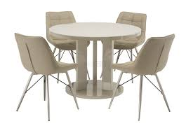 Tyra Glass On Gloss Latte Round Dining Table With Nova Dining Chairs ... Round Back Ding Chair Stunning High Upholstered Magnussen Home Walton Wood Table Set With Roundup Natural Linen Paige Chairs Of 2 World Market Signature Design By Ashley Trudell 5piece Gray Roundback Eichholtz Dearborn 1 Oroa Cramco Inc Contemporary Parkwood With Amazoncom Formal Luxurious 5pc Antique Silver Finish Turner At Gardnerwhite Davenport And 4 In Ivory Oak Dav010 Beige Ding Chair Curve Arm Black Wood Frame Also Round