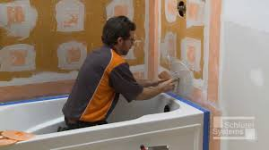 Tiling A Bathtub Deck by Schluter Kerdi Board Over Framing In Bathtub Surround