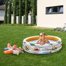 kinderschwimmbecken in orange weiß