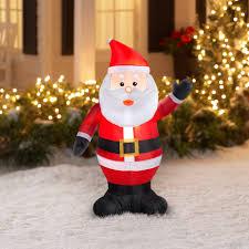 Walmart Halloween Blow Up Decorations by Gemmy Airblown Christmas Inflatables Waving Santa 4 U0027 Walmart Com