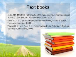 Text Books Gilbert M Masters Introduction To Environmental Engineering And Science 2nd Edition