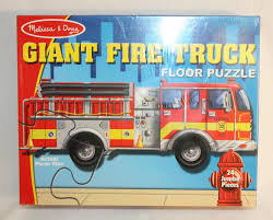 100 Melissa And Doug Fire Truck Puzzle NEW Giant Floor 24 Jumbo Pieces
