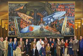 famous mural man at the crossroads by diego rivera azzme