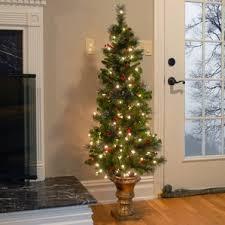 7ft Slim Led Christmas Tree by Slim Christmas Trees You U0027ll Love Wayfair