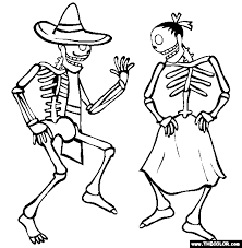 Skeleton Coloring Pages 10