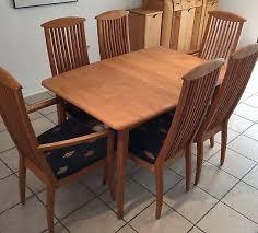 esszimmer erle massiv tisch und zwei einleger 6 stühle