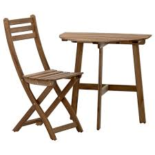 Ikea Edmonton Kitchen Table And Chairs by Askholmen Wall Table U0026 Folding Chair Outdoor Ikea