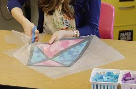 Glass Window Decorations Awesome How To Make Tissue Paper Stained Kite YouTube Intended For 28