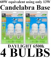 4 pack candelabra base daylight 6500k sylvania 60w equivalent