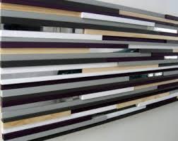 Purple Wall Art Wood Modern