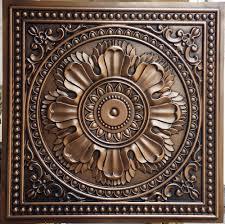 pl17 faux tin ceiling tiles antique copper color 3d embossed cafe