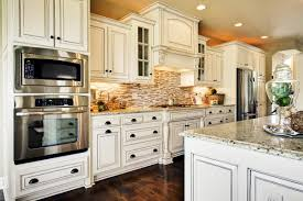 Kitchen Tile Backsplash Ideas With White Cabinets Cabinet And Beadboard Island Traditional Design Brown Top Isl