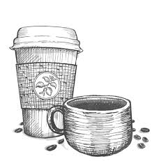 Coffee Cup Sketch Png Image Transparent Library