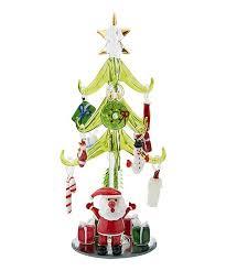Santa Miniature Glass Tree Set