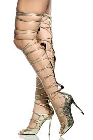 faux leather lace up thigh high stiletto heels cicihot heel